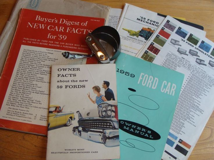 Best 25 ford owners manual ideas on pinterest classic ford 1959 owners manual buyers digest of new car facts dash magnifier fandeluxe Image collections