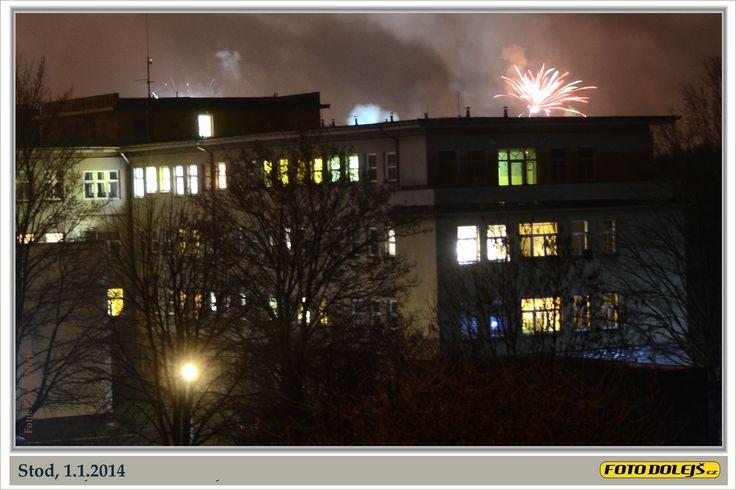 Stod, 1.1.2014 krátce po půlnoci z roku 2013. Foto Pavel Dolejš.