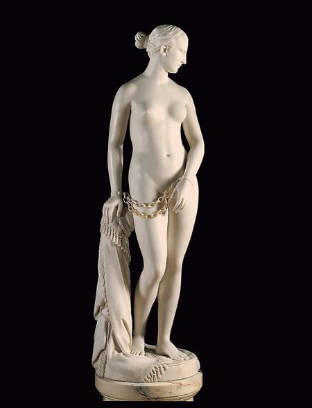 the greek slave a sculpture by hiram powers essay This sculpture by hiram powers was perhaps the most popular american work of   the slave has been taken from one of the greek islands by the turks, in the.