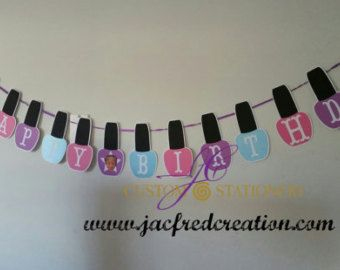 Nail Polish Bottles Spa Party Banner