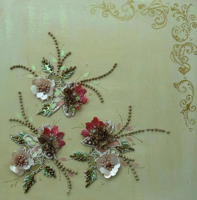 Hand embroidery on canvas by Magical Mystery Tuca, via Flickr