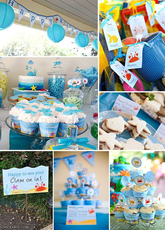 Under the Sea birthday party printables collection  by Chickabug, $49.00