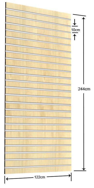 Πάνελ Slat 122x244cm με 23 Πηχάκια Αλουμινίου