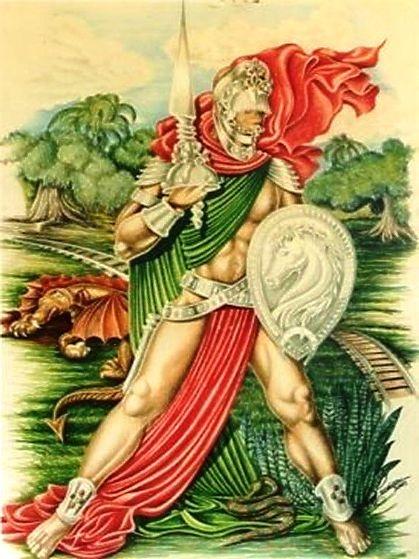 Uma representação do Orixá Ogum, no sincretismo religioso é São Jorge Guerreiro