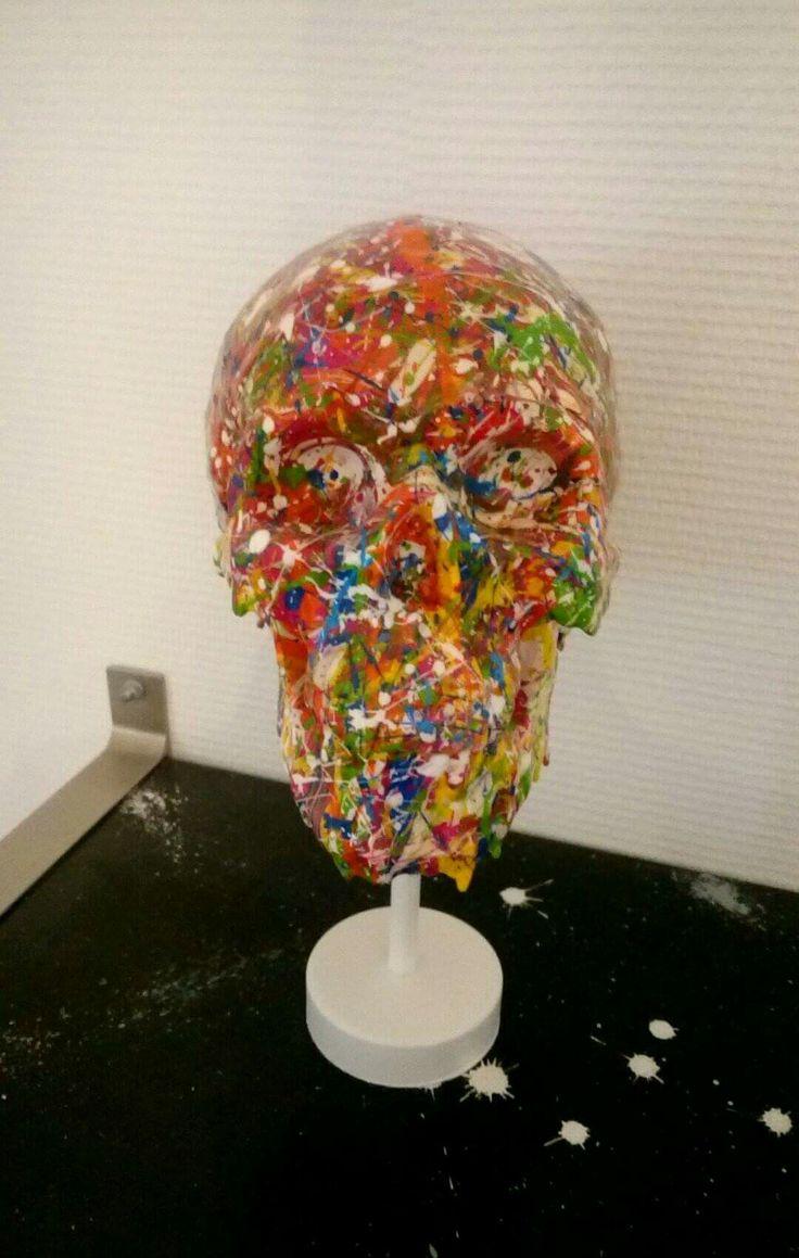 Skull art déco 2 By JB
