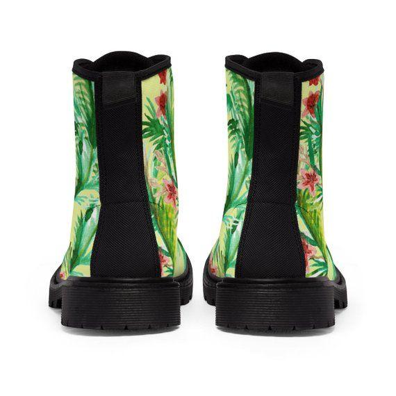 1e3fe53b0f6f6 Ikuyo Floral Print Women's Nylon Canvas Winter Boots US | Etsy ...