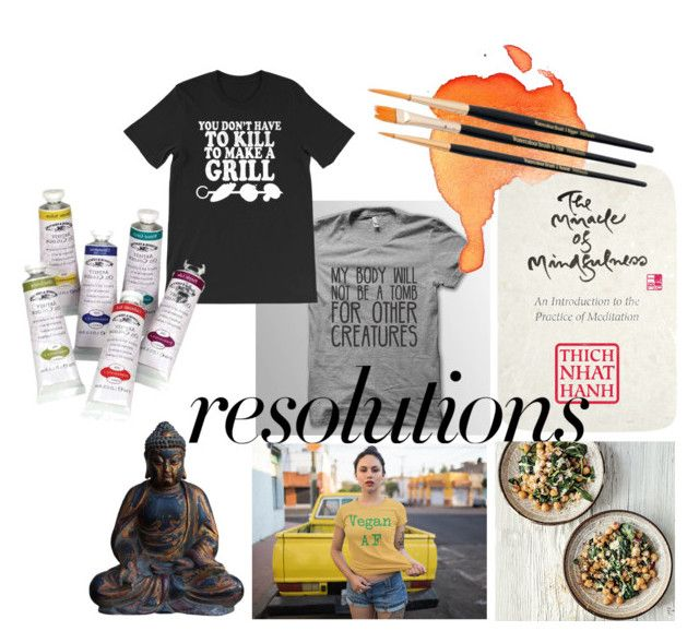 """#PolyPresents: New Year's Resolutions"" by pictrix82 ❤ liked on Polyvore featuring Penguin Random House, contestentry and polyPresents"