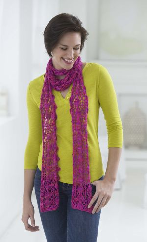 Cosmic Trail ScarfWeight  Category: 2 -   Sport Weight: Fine, Sport Weight, Baby Yarn 1.75 oz./50 g (163 yd/150 m)  100% Silk