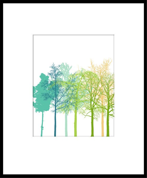 The Trees - 8 x 10, inspirational perfect day poster