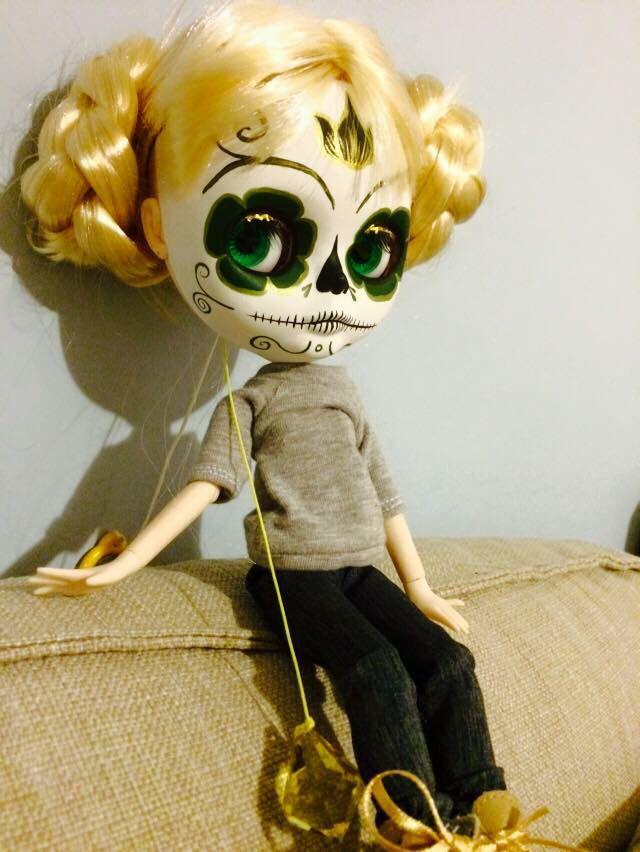 Calavera blythe custom by me jolly Roger dolls
