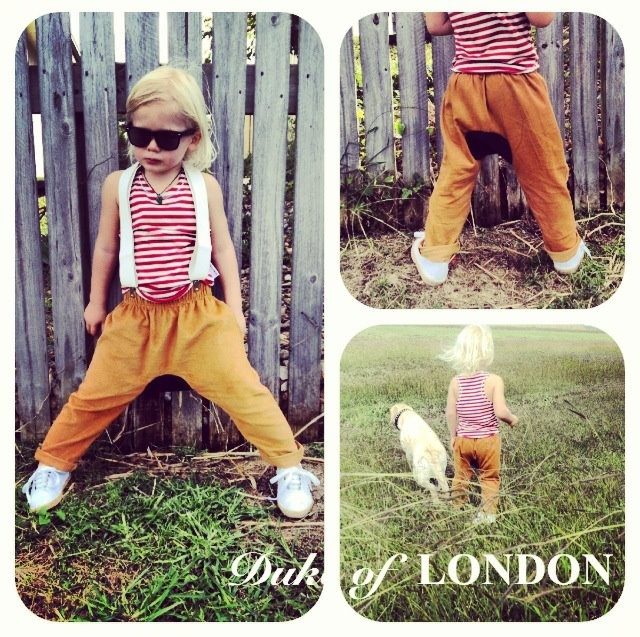 With the line produced entirely in Australia, with everything from tops, pants, collared shirts, shorts, tanks, hats, scarves, chinos and cords all super comfy and uber cute you can kit out your kiddies from head to teeny toe.  Available from Bondi Markets at the 'Duke of London'' stall.