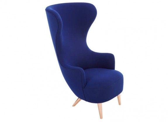trendssoul by özlem (yan) devrim: TOM DIXON - WINGBACK CHAIR BLUE COPPER LEGS