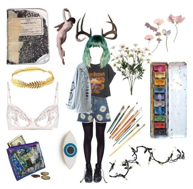 """""""I'm a mess"""" by thewitchishere ❤ liked on Polyvore featuring Leg Avenue, WearAll, Harley-Davidson, Kurt Adler, La Perla, Georgia Perry and Johnny Loves Rosie"""
