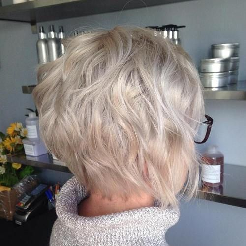 ... - Messy bob haircut medium, Messy bob haircuts and Short shaggy bob