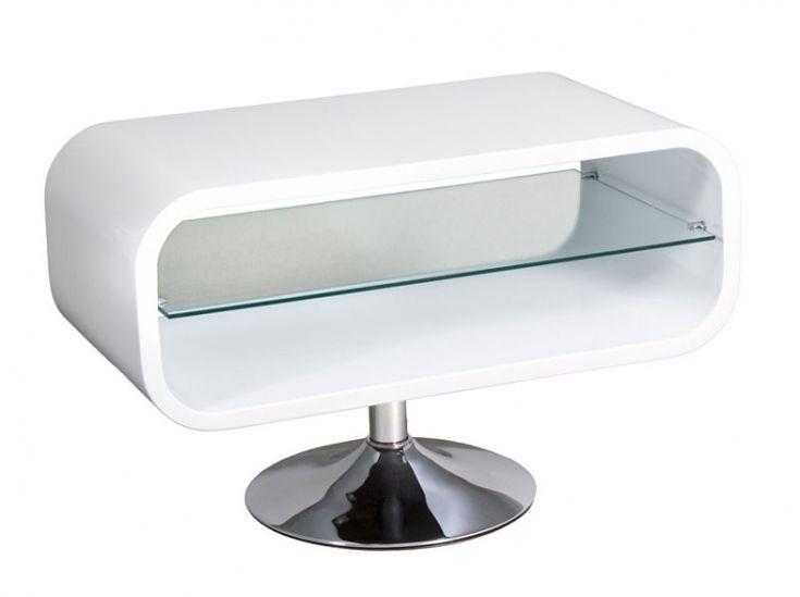 Mesa TV blanca -