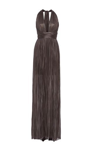 The Jane Halter Neck Maxi Dress by MARIA LUCIA HOHAN for Preorder on Moda Operandi
