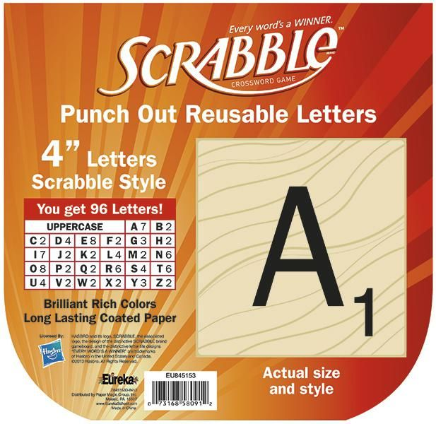Scrabble Bulletin Board Letters