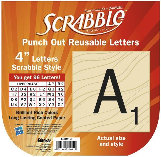Scrabble Bulletin Board Letters