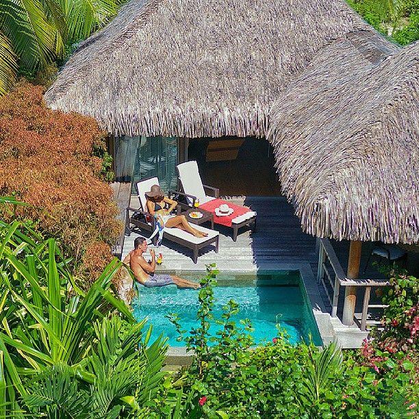 Piscine privative / Enjoy your private swimming pool at the InterContinental Moorea Resort & Spa#InterContinental  Piscine privative / Enjoy your private swimming pool at the InterContinental Moorea Resort & Spa#InterContinental#swimmingpool#Tahiti#Moorea#mariage#wedding#honeymoon#lunedemiel#holidays#polynesie#polynesia