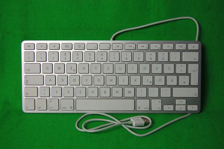 Mac Apple Alu USB-Tastatur A1242, QWERTZ, deutsches Layout, ohne Ziffernblock