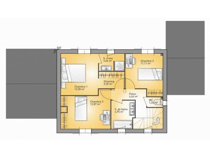Plans de maison 1er tage du mod le mas maison for Extension maison suite parentale