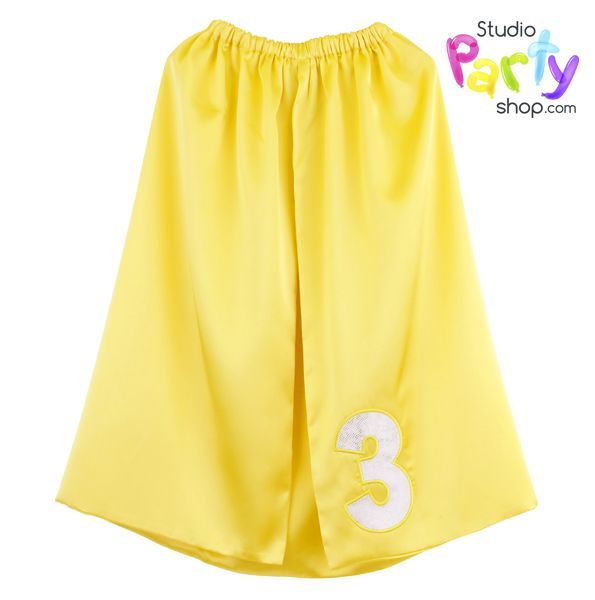 Be a number THREE with this super satin cape from www.studiopartyshop.com