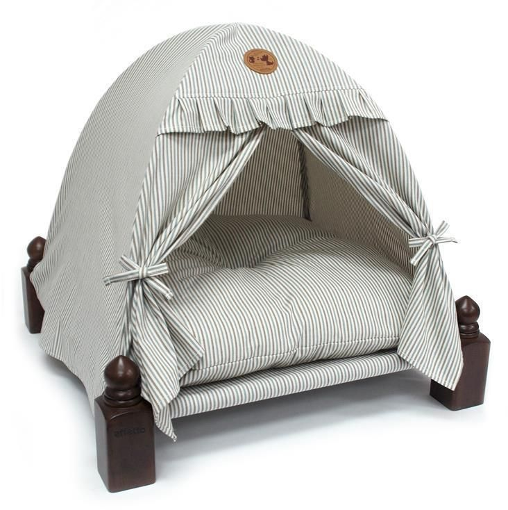 Dog house Puppy Bed Home Tent Hammock Pet Stand Play. High Quality Puppy House 1pc. 100% Cotton/Rubber Tree Wood/ Cushion included. PP HD Webbing/Glass Solid & PE Hose Poles. | eBay!