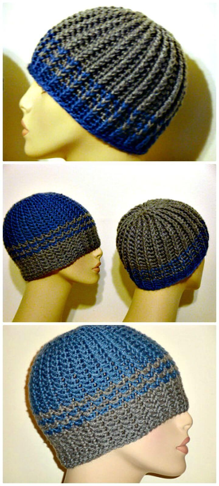 20 Free Crochet Hat Patterns That Adorable For Men's