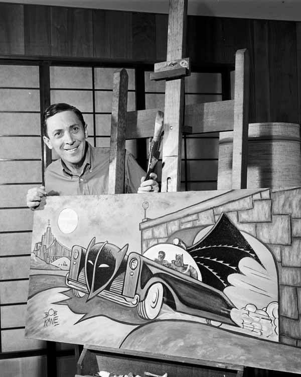 Bob Kane, co-creator of Batman along with Bill Finger (not shown)