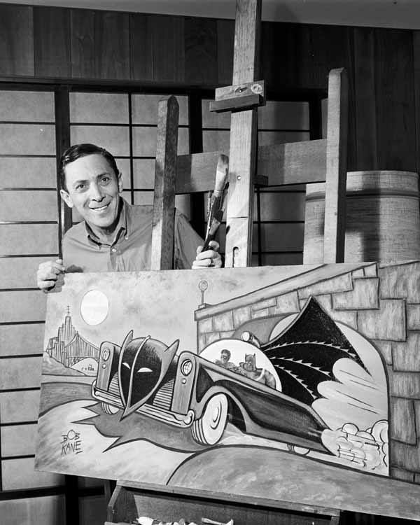 Bob Kane, co-creator of Batman along with Bill Finger (not shown)
