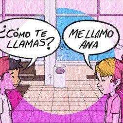 Song to teach ¿Cómo te llamas? ¿Cuántos años tienes? more Spanish Songs for Kids and Children to Learn Spanish at Rockalingua