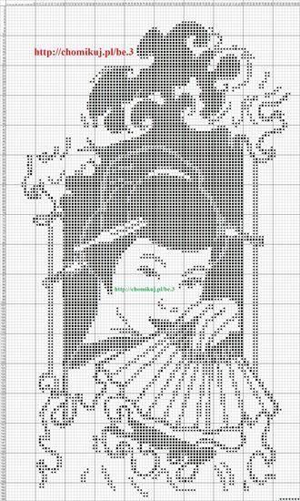 0 point de croix monochrome geisha - cross stitch
