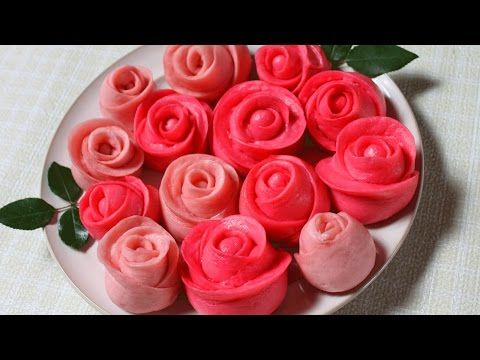 田园时光美食---紫薯菊花酥Chrysanthemum shape pastry (with purple potato fillings) - YouTube