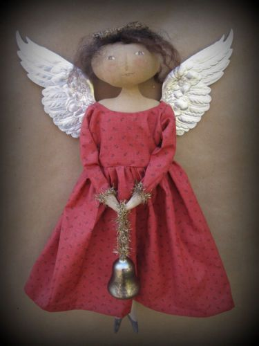 Primitive Folk Art Christmas Angel Doll PATTERN PLUS EXTRAS Tree Topper Holiday
