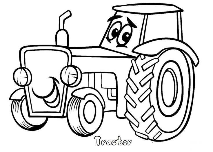 tractor coloring book | Coloring Pages