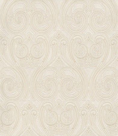 Kashmir (5341) - Albany Wallpapers - A luxurious textured all over swirl pattern on a heavy weight vinyl backing. Showing in ivory with gold highlights - more colours are available. Please request a sample for true colour match.