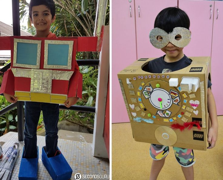 Kindergarten Kids Rocking Costumes Made Out Of Recycled