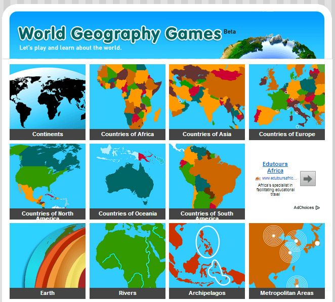World Geography Games.