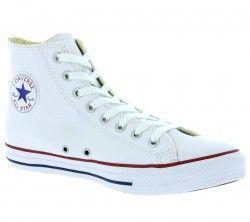 Converse All Star Chuck Taylor Leather Hi Echtleder Sneaker Weiß 132169C