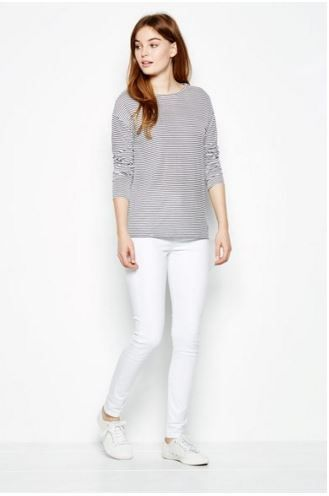 Everyone needs a blue and white striped top, long sleeve for those cooler mornings, pair with a pair of white jeans and cons and a blazer for a more put together look. Striped Long Sleeve from Jack Wills £34.50