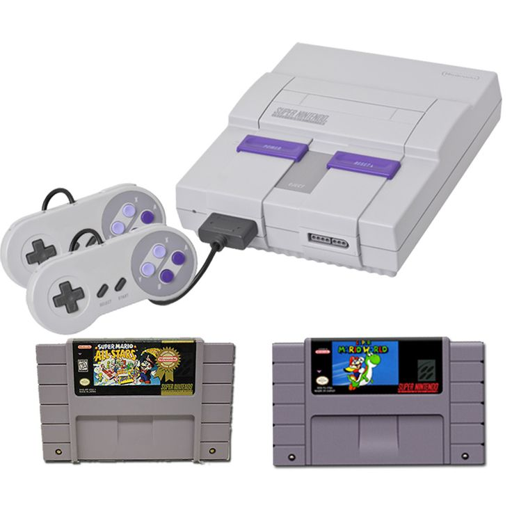 Super Nintendo System with Super Mario World and Mario All-Stars Bundle