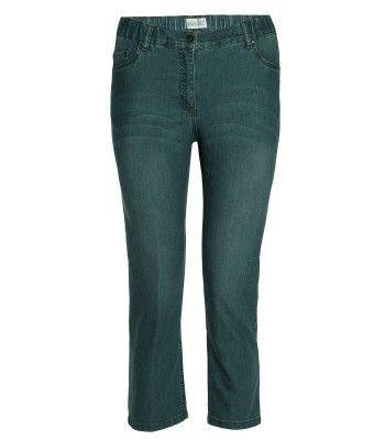Chalou Damen 7/8 Jeans Hose in großen Größen Grau