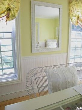 32 best images about wainscoting on pinterest traditional bathroom wallpapers and hallways for Beadboard ideas for living room
