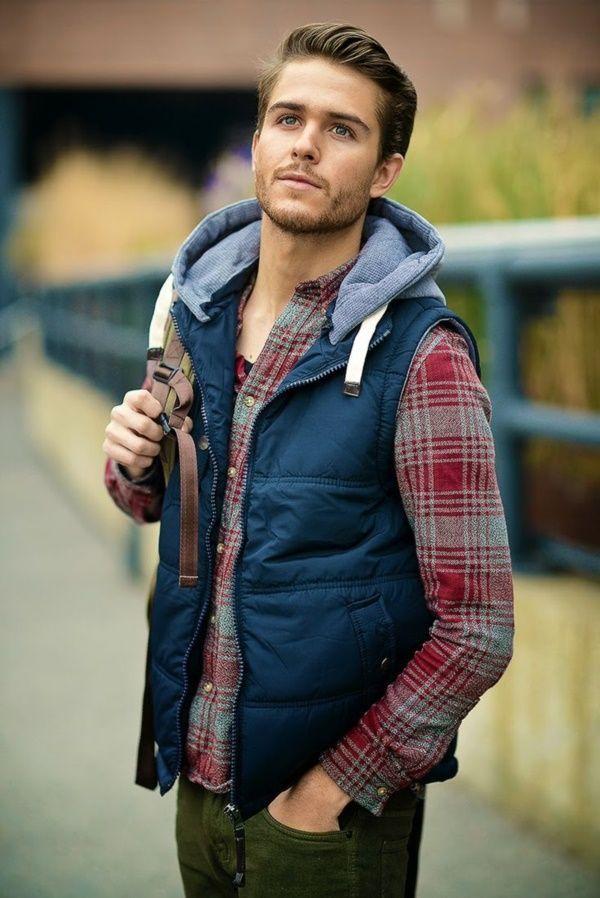 Warm layered fashion Ideas For winter--Alwishes.com #MensFashionWinter