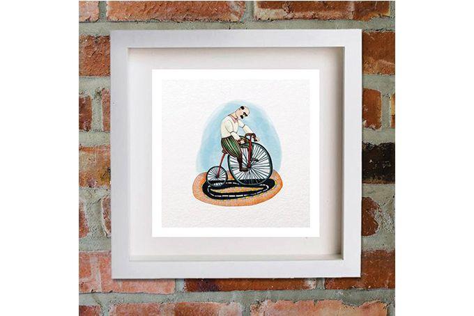 Man on Bike  - Two by Catchatiger Design Studio
