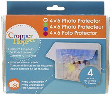 Advantus Cropper Hopper Photo/Negative Organizer 4-Pack, Frost 4-Inch-by-6-Inch Review