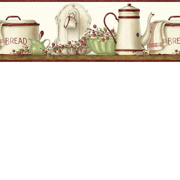 25+ Best Kitchen Wallpaper Borders Images On Pinterest