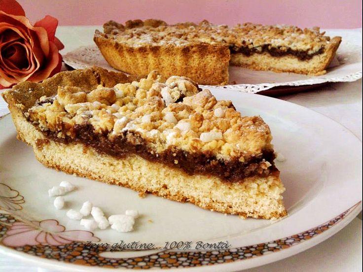 Torta sbrisolona con nutella e mascarpone | zero glutine...100% Bontà