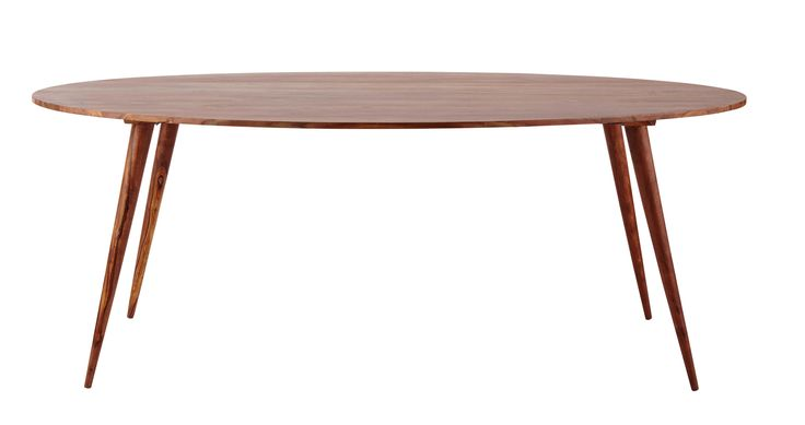Ovaler Esstisch aus massivem Sheeshamholz, B 200cm Andersen
