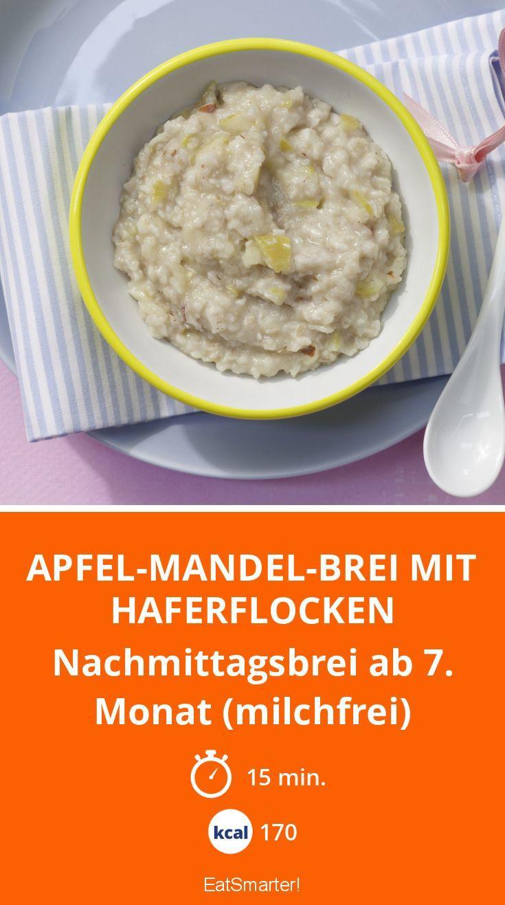 Apfel-Mandel-Brei mit Haferflocken - Nachmittagsbrei ab 7. Monat (milchfrei) - smarter - Kalorien: 170 Kcal - Zeit: 15 Min. | eatsmarter.de
